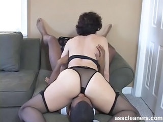 Ass Facesitting Femdom Interracial Lingerie Licking Mature