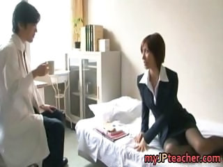 Asian Doctor Japanese  Stockings Teacher