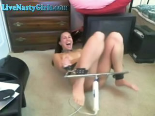 Bondage Fetish Masturbating  Orgasm Toy Webcam