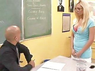 Amazing Big Tits Blonde Glasses  School Teacher