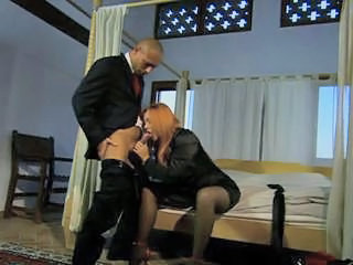Blowjob Clothed European Italian  Stockings