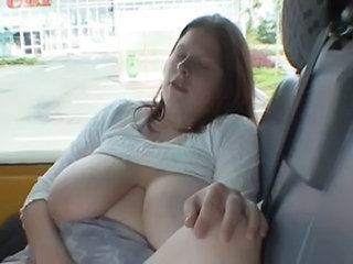 Amateur  Big Tits Car Masturbating Natural Public