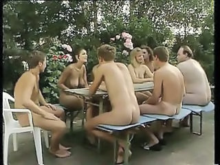Groupsex  Nudist Orgy Outdoor Party Vintage