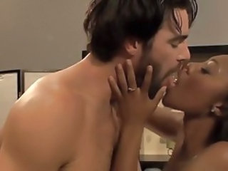 Ebony Interracial Kissing Massage