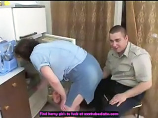 Amateur Kitchen Mature Mom Old and Young Russian