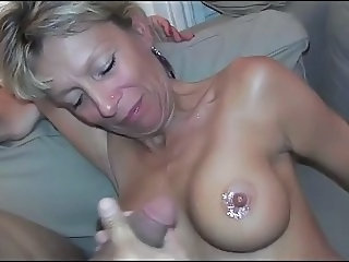 Amateur Cumshot European French  Nipples