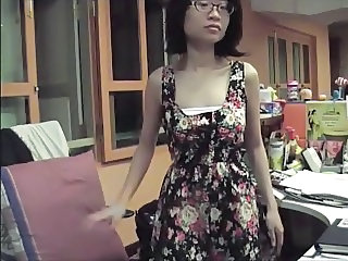 Asian Glasses  Office Secretary Webcam