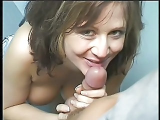 Bathroom Blowjob Mature