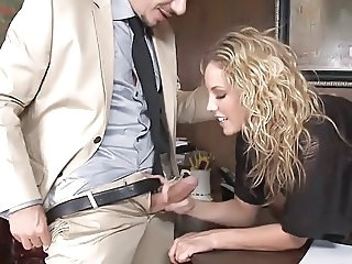 Amazing  Cute Handjob  Office Pornstar Secretary