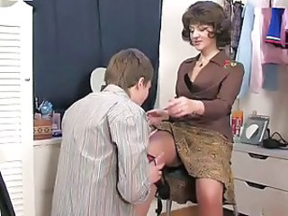 Mom Old and Young Russian Stockings