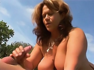 Big Tits Handjob Mature Outdoor Pissing