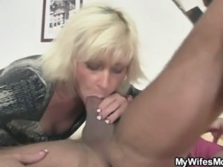 Blonde Blowjob Mom