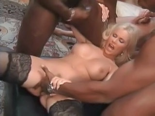 European German Hardcore  Stockings Threesome