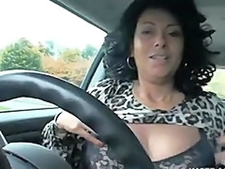 Car Chubby Masturbating Mature