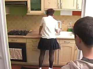 Kitchen  Mom Old and Young Skirt Stockings