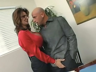 Amazing Big Tits  Office Pornstar Secretary