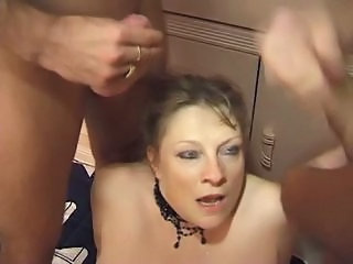 Cumshot Mature Older Threesome