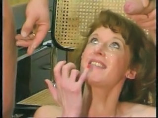 Cumshot Facial European German  Threesome