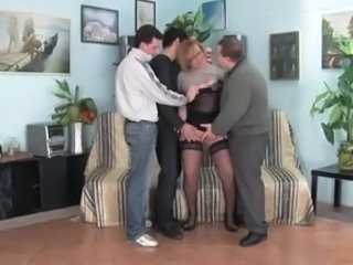 Gangbang  Stockings