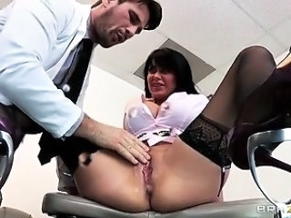 Big Tits Doctor  Pornstar Pussy Stockings