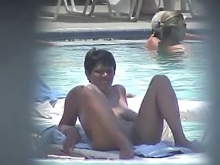 Mature Nudist Outdoor Pool Public Voyeur