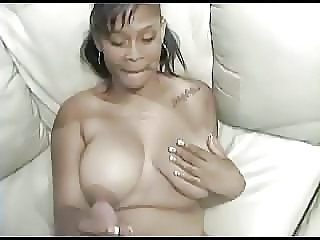 Big Tits Ebony Handjob  Natural