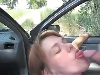 Amateur Blowjob Car  Outdoor Wife