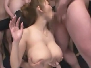 Asian Big Tits Blowjob Gangbang Japanese  Natural Pornstar