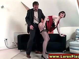 Clothed Doggystyle European  Stockings