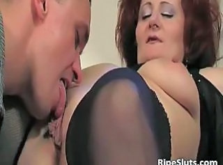 Licking Mature Mom Old and Young Pussy