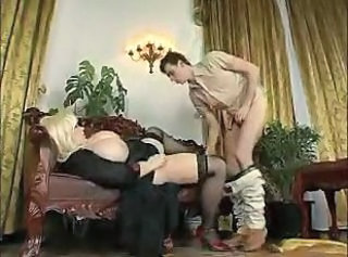 Big Tits Blonde  Mom Old and Young Stockings