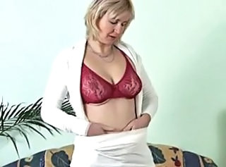 Lingerie Masturbating Mature Solo Stripper