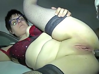 Amateur Anal Chubby European French Glasses Mature Shaved Stockings