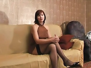 Amateur Homemade  Russian Stockings
