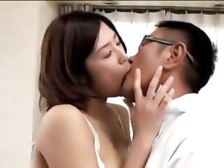 Asian Japanese Kissing Mom Old and Young
