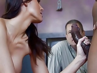 Cuckold Handjob Interracial Wife