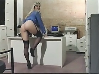 Amazing Ass  Office Secretary Stockings