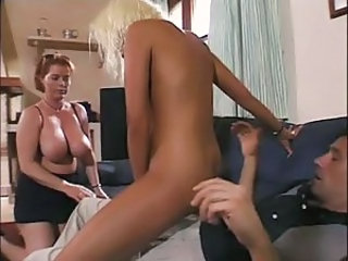 Big Tits Daughter Family  Mom Natural Old and Young Riding Teen Threesome