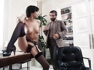 Hairy  Office Secretary Stockings Vintage