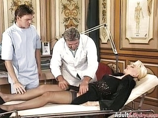 Doctor  Stockings Threesome