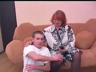 Amateur Mature Mom Old and Young Redhead Stockings