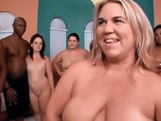 Chubby Groupsex Interracial  Orgy Party