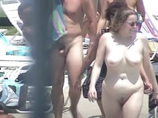 Nudist Outdoor Pool Public Voyeur