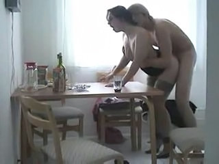Amateur Drunk Homemade Kitchen  Mom Old and Young Stockings