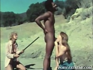 Blowjob Interracial   Outdoor Threesome Vintage