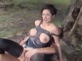 Big Tits Latex  Outdoor Riding