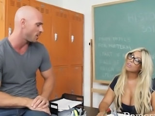Amazing Big Tits Glasses   Pornstar School Teacher