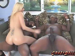 Ass  Interracial  Riding Tattoo Threesome