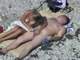 Beach Handjob Nudist Outdoor Voyeur Wife