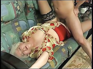 Clothed Mature Mom Old and Young Stockings